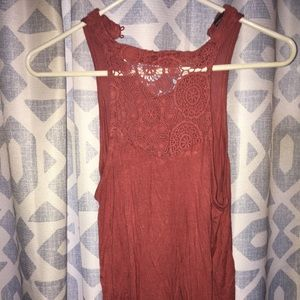 Rue21 halter tank with lace